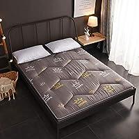WJH Mullido colchón Transpirable, Futón Tatami japonés, Antibacteriano Anti-ácaros Cómodo Doble Sleeping