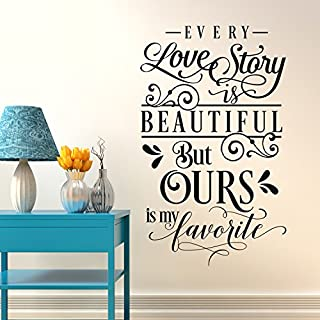 Every Love Story Quote Wall Art Sticker Decal Mural Transfer (Large Size) - Iconic Wall Art Perfect for All Modern Homes