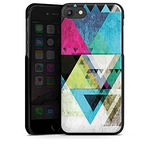 Apple iPhone X Silikon Hülle Case Schutzhülle Muster Grafisch Abstrakt Hard Case schwarz