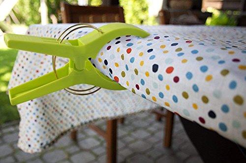 confronta il prezzo 12 pezzi Mollette in Plastica Grandi in Colori Brillanti, URAQT Clip di Vestiti Antivento Pioli Supporti per telo mare, trapunta, tappeto miglior prezzo