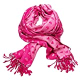 Alpenflüstern Trachtenschal Herzilein pink-fuchsia ATX030