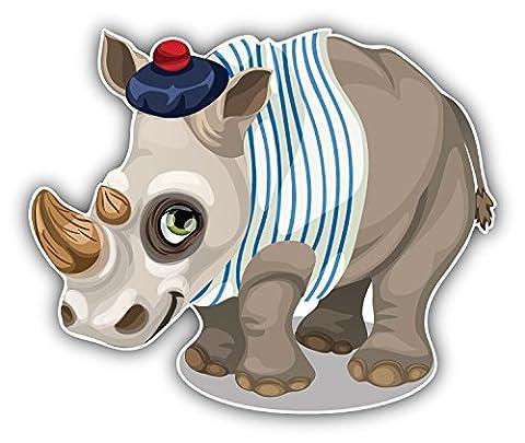 Funny Rhino Sailor Autocollant Voiture Decoration de Vinyle 12 X 10 cm
