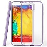 Cover di protezione Samsung Galaxy Note 3 Custodia Case silicone sottile 1,5mm TPU | Accessori Cover cellulare protezione | Custodia cellulare Paraurti Cover Traslucida Trasparente INDIGO-VIOLET