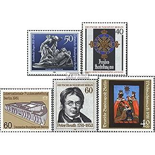Prophila Collection Berlin (West) 647,648,649,654,658 (kompl.Ausg.) 1981 Begas, Preußen, IFA, Beuth, Weihnac (Briefmarken für Sammler) Weihnachten