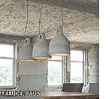 Hängelampe Industrial Beton Glocke 3er
