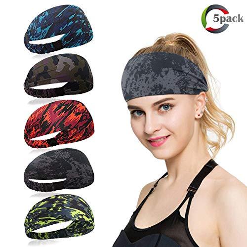 Haarband Stirnband Haarbänder Schweißband Kopftuch Stirntuch mit Klettverschluss