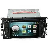 """KKmoon 7 """"Navegación GPS Radio de Coche 2 Din Car Reproductor de DVD en Dash Car PC Unidad Estéreo Ford Focus Mondeo s-Max Galaxia Kuga + Mapa Libre + Tarjeta Gratis, Color Negro"""