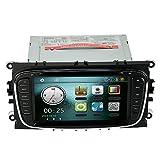 KKmoon 7' Auto DVD Player GPS Navigation in Dash Auto Radio Doppel 2 Din Auto PC Stereo Haupteinheit für Ford Focus Mondeo S-Max Galaxy Kuga + Freie Landkarte + Freie Karte