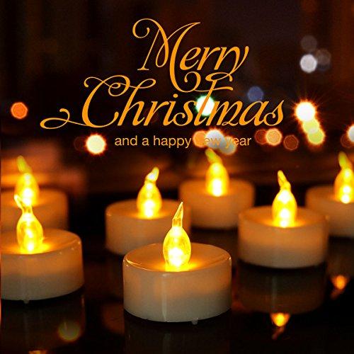 Advocator 24pcs Gelb Batteriebetriebene LED Teelichter Kerzen mit Timer -6 Stunden an und 18 Stunden aus in 24 Stunden Zyklus für Outdoor, Indoor, Thanksgiving-Tage, Weihnachten (24, gelb) (Halloween-led-kerzen)
