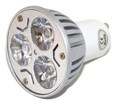 GU10 9w Energie-Sparer 3 x 3 Watt Dimmbar LED - 30 Grad-Lichtstrahl-Winkel - 9 Watt Super Helle Spot Glühbirne - cool weiss - gegenwärtig 40 bis 50 Watt-Halogen von Cree - Lampenhans.de
