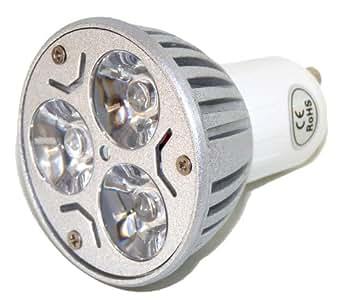 GU10 9w Economiseur d'énergie 3 x 3 watt variateur de lumière LED – faisceau à 30 degrés d'angle – ampoule spot dimmable brillante super 9 watt - blanc chaud – équivalent 40 à 50 watts halogène