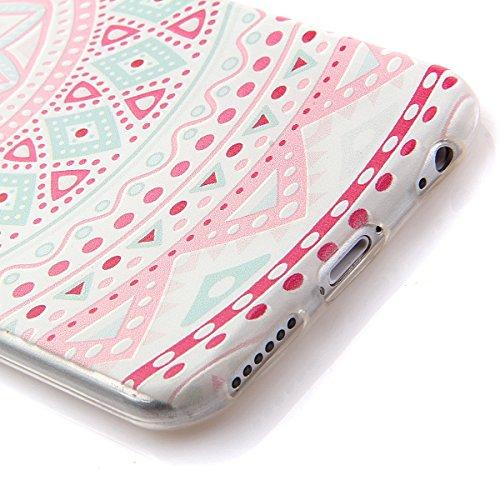 iPhone 6s Plus Hülle Silikon,NSSTAR Soft TPU Schutzhülle für iPhone 6s Plus,iPhone 6s Plus Blume Muster Hülle Ultra Slim Perfect Fit Gel Cover Tasche Bunte Kreative Schutz Case Handytasche Handyhüllen 20#,TPU
