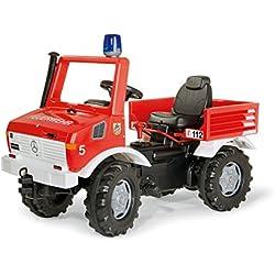 Rolly - Vehículo Unimog de bomberos con luz y sonido, 110 cm, multicolor (70566)