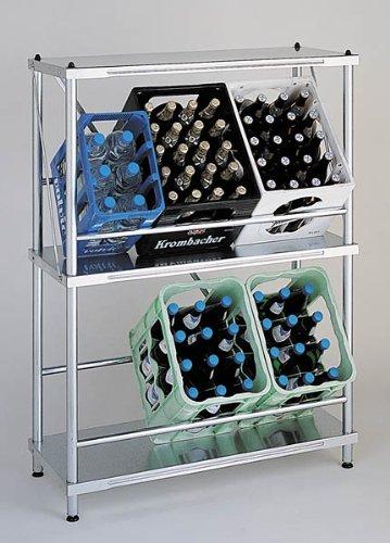 Getränkekistenregal, Kistenständer, Kastenregal, 124x90x38cm - 99 Jahre Garantie!