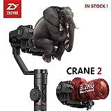 Zhiyun Crane 2 Il primo stabilizzatore di fotocamere a 3 assi del mondo con il controllo della messa a fuoco Focus Gimble a mano con display OLED intuitivo e 18 ore di runtime e 3,2KG Max. Payload per immagine