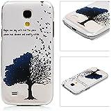 Funda para Samsung Galaxy S4 Mini - Lanveni Chic Elegante Carcasa Rigida PC ultra Slim para Samsung Galaxy S4 Mini i9190 Transparente Protective Case - Patrón árbol de pájaro Diseño