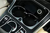 Auto ABS Chrom Zubehör Becherhalter Abdeckung Rahmen Trim für GLC C Klasse W205 C180 E Klasse W213 E200l E300 2015-2017