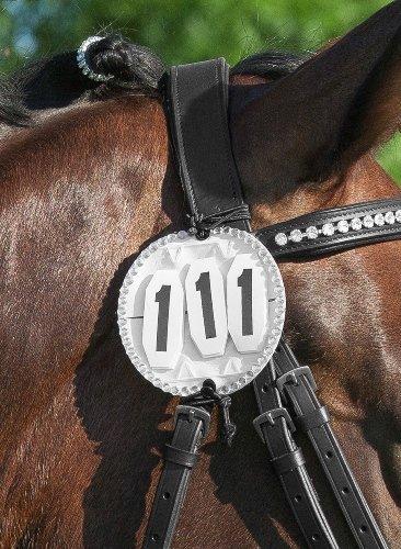 USG - Dressage Bridle Number Bling x Pair 1