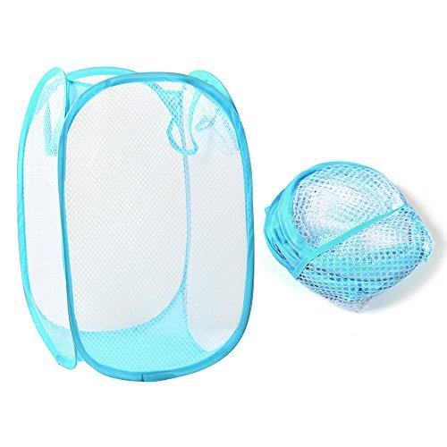 Preisvergleich Produktbild YOKIRIN Faltbare Meshy Wäschekorb Wäschekorb rechteckig Kleidung Lagerung Tasche zufällige Farbe