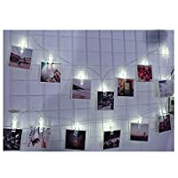 Altsommer Festival Warm String Lights ,1.5M 10 LED Hanging Card Picture Clips Photo Pegs String Light Lamp Indoor Decor For Christmas Festival Party Daily Use (B)