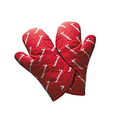 barbecook Grillzubehör, Paar rote kurze Grillhandschuhe, rot, 28 x 3 x 20 cm, 2230602000