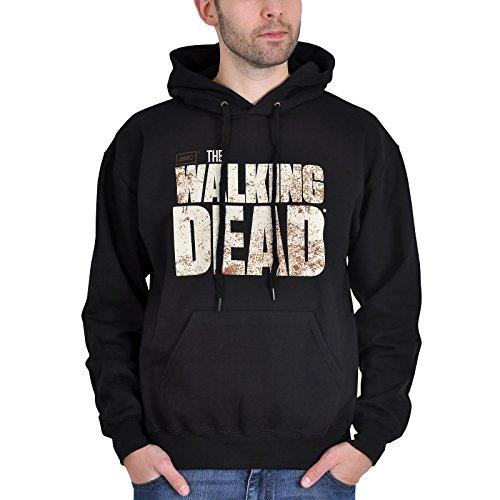 Elbenwald Walking Dead Kapuzen Pullover Hoodie mit Logo schwarz - ()