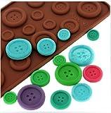 Fendii: Molde de silicona para hacer botones de chocolate 3D, molde para Fondant, para hornear, herramienta de bricolaje.