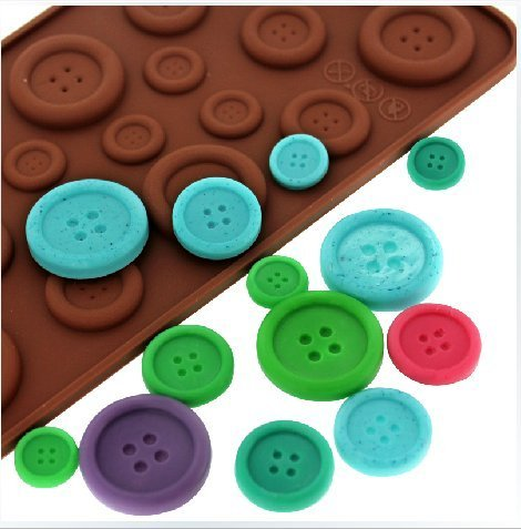 tia-ve 3D Silikon Knöpfe Schokolade Kuchen Form Fondant Mould Backen Tool DIY