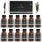 Luana Rose - Ätherische Öle Sets - 100% Vegan & Naturrein - 12x Aromaöl-e für Diffuser & Aromatherapie - Reines Aroma-Öl & Duftöl für Aroma Diffuser - Vanille - Lavendel - Rose und viel mehr