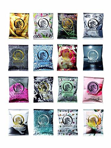 einhorn Kondome 7 Stück Wochenration Design Edition: UUUH! PENISGEGENSTÄNDE - Vegan, Hormonfrei, Feucht, Geprüft - 4