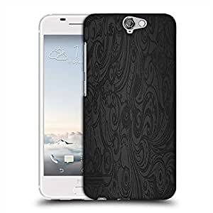 Snoogg Black Abstarct Pattern Designer Protective Phone Back Case Cover For HTC one A9
