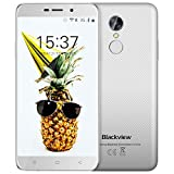 Günstiges Smartphone, Blackview A10 2GB RAM + ROM 16GB Dual SIM Handy 5.0 Zoll HD IPS Touch Display Andorid Smartphone, 5MP + 8MP Cameras Android 7.0 mit 2800mAh Battery Handy,Weiß