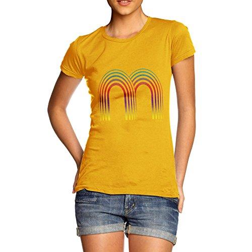 TWISTED ENVY Damen T-Shirt Gelb - Gelb