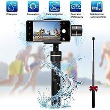 FeiyuTech SPG 3-Axis cardán de mano, (a prueba de salpicaduras) Handheld Stabilizer Gimbal con barra de extensión para iPhone, Samsung, HUAWEI Smart Phones, GoPro 5/4/3 y cámaras de acción