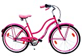 NEUZER Damen Beachcruiser 26 Zoll 3 Gang Shimano pink StVZO-Ausstattung