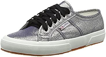Superga 2750 LAMEW, Damen Sneakers, Grau (980), 39.5 EU