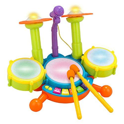 Per Kleinkind elektronisches Trommel Set mit Mikrofon-Musikspielzeug-Puzzlespiel-frühes pädagogisches Spielzeug für Baby-Kinder