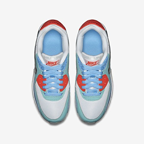 Nike Air Max 90 Mesh (Gs) Scarpe da ginnastica, Bambine e ragazze blanco - blanco