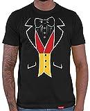 HARIZ  Herren T-Shirt Deutschland Smoking Weltmeisterschaft Trikot WM Gratis Bang Sticks Deutschland Fussball Collection Black L