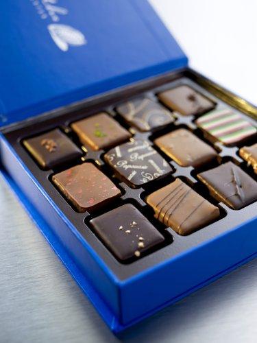 The Chocolate Collection - Preisgekrönte Pralinen vom top Chocolatier Belgiens - Exotische Mischung-12 Stück