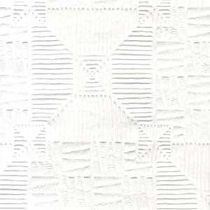 RD0145 - Anaglypta White Textured Inca Wallpaper: Amazon co