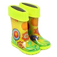 Demar Girls Wellington Boots Yellow HLE-EB