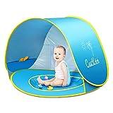 Ceekii, Strandmuschel mit Mini-Planschbecken für Kinder, tragbar, UV-Schutz 50+, faltbar, ideal für Strand, Reisen, Wandern
