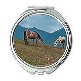Yanteng Spiegel, kompakter Spiegel, Tierlandschaftsgras, Taschenspiegel, tragbarer Spiegel