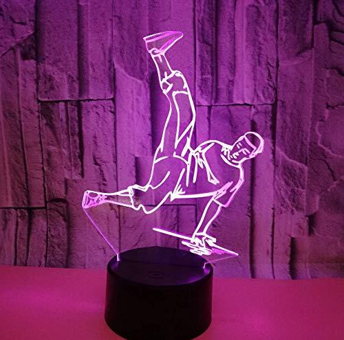 Kleine Tischlampen-Handelspersonen Des Hip Hop-3D Gewohnheits-3D Beleuchtet Die Bunte Note, Die Led-Sichttischlampen Für Wohnzimmer Auflädt (Halloween-nacht Hip Hop)