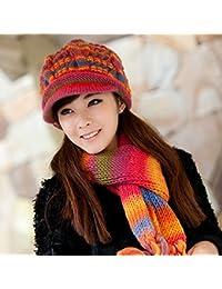 e2b2836b6c5e Sciarpe XIAOXIAO Tenere Caldo Freddo Inverno Cappello Cappello Lavorato A  Maglia Due Pezzi Molti Modi (