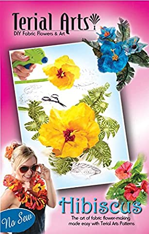 Terial Arts Hibiscus Fabric Flower Pattern