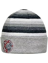 Fiebig Gorro De Niños Beanie Tapa Jersey Otoño Sombrero Invierno Niño Pequeño A Rayas Con Emblema Y Forro Polar Para (FI-71353-W16-JU3) incl. EveryHead-Hutfibel