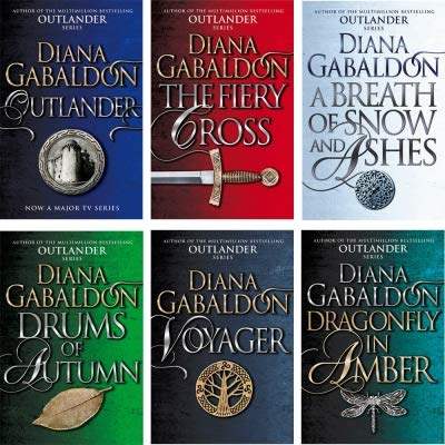 Outlander Series Collection 6 Books Set by Diana Gabaldon (Outlander, Dragonfly In Amber, Voyager, Drums Of Autumn, The Fiery Cross, A Breath Of Snow And Ashes) (Gabaldon Fiery Cross)