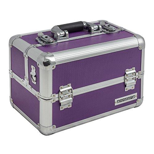 anndora Multikoffer Beautycase Kosmetikkoffer Etagenkoffer abschließbar - Lila